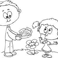 Thumbnail image for Eating Matzoh Coloring Page