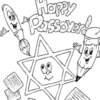 Thumbnail image for Passover Coloring Page