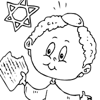 Thumbnail image for Yummy Matzoh Coloring Page