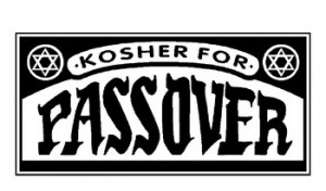 Food that is kosher for Passover does not contain leavened flour.