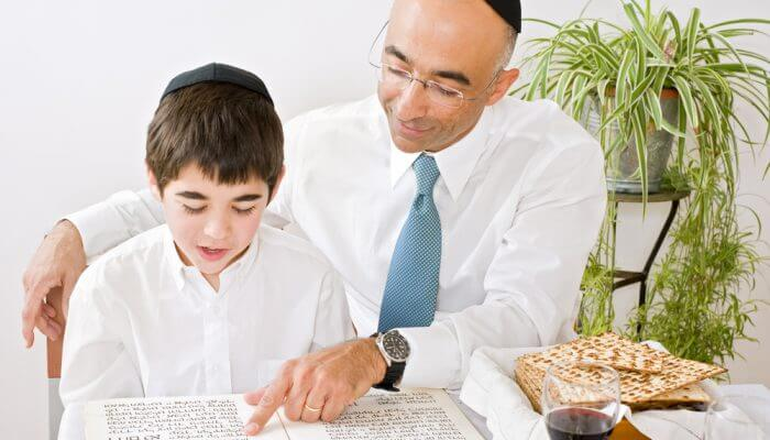 Reading from the Haggadah