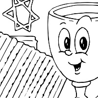 wine and matzoh - passover fun - Passover Coloring Pages Printable