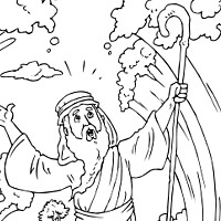 crossing the red sea coloring page many interesting cliparts